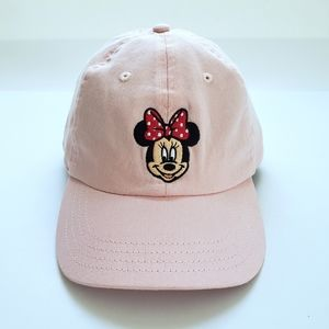 Disney Minnie Mouse Pink Embroidered Baseball Cap